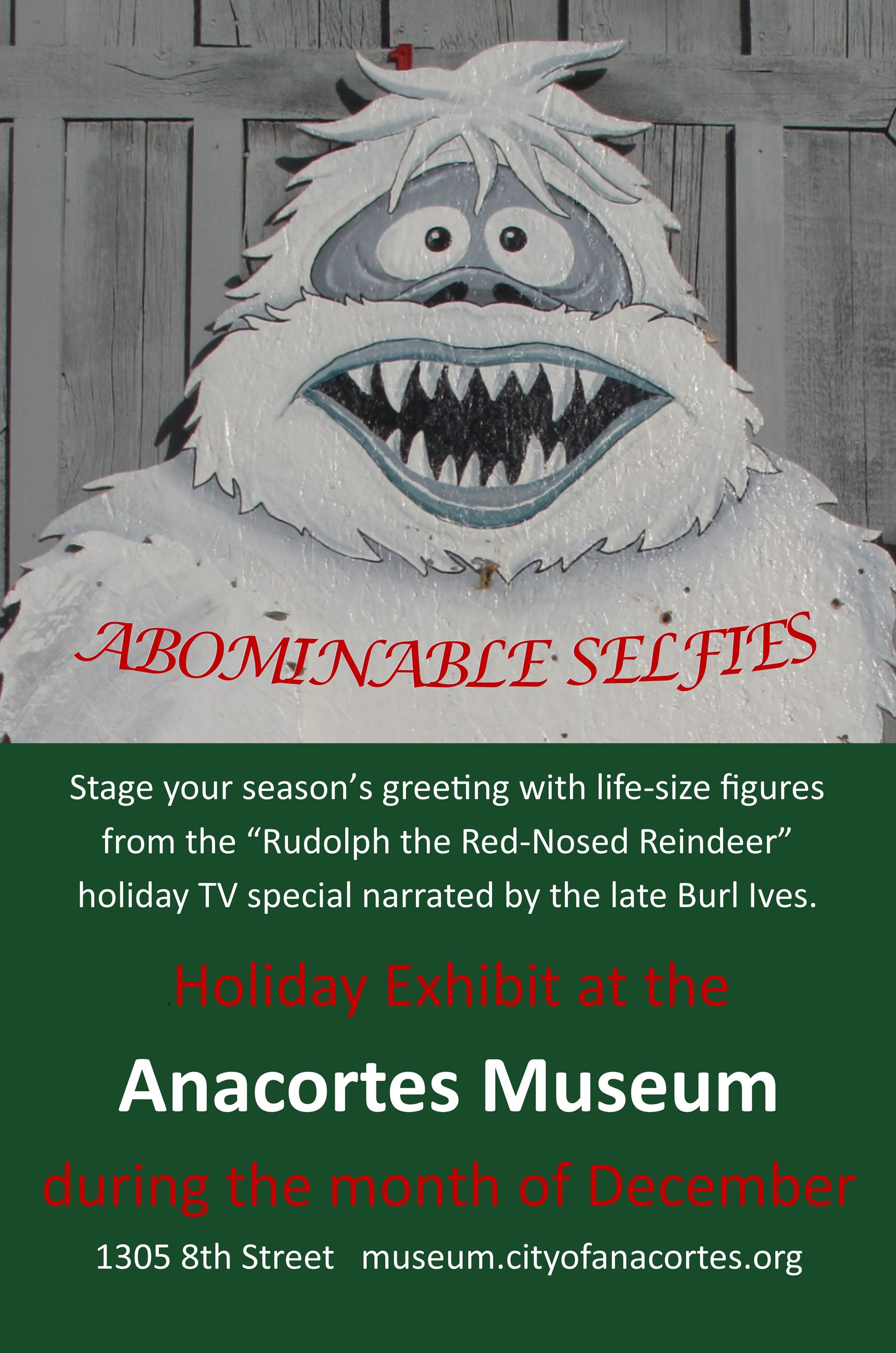 Abominable Selfies at Anacortes Museum