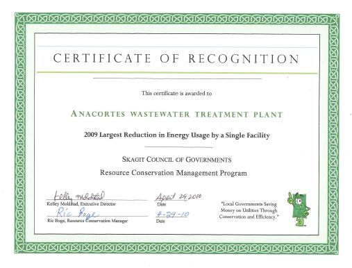 SCOG Recognition Certificate